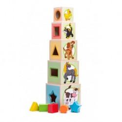 Kubelių bokštas su kaladėlėmis -