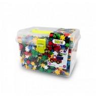 Meli konstruktorius plastikinėje dėžutėje