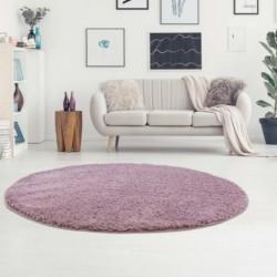 Ilgo plauko violetinis kilimas vaikų kambariui