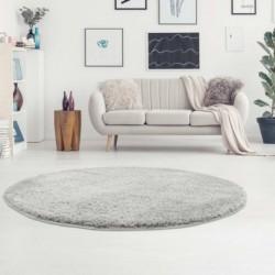 Ilgo plauko pilkos spalvos vaikiškas kilimas