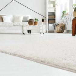 Ilgo plauko baltas vaikiškas kilimas -
