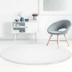 Baltas švelnus vaikiškas kilimas -