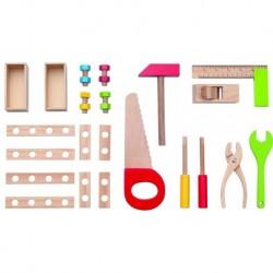 Vaikiški mediniai darbo įrankiai dėžėje 3+