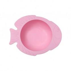 Rožinis KIDODO dubenėlis su prilimpančiu dugnu -