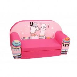 Rožinė sofa -