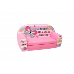 Rožinė minkšta sofa -
