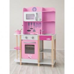 Rožinė medinė virtuvėlė -