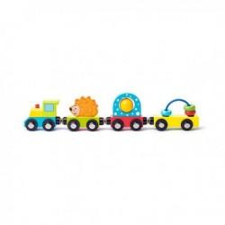 Medinis vaikiškas traukinukas