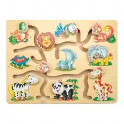 Medinis labirintas su gyvūnais 3+