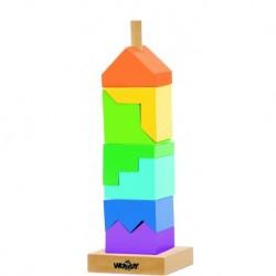 Medinis kaladėlių bokštas 2+